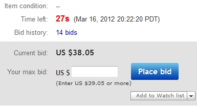how to change the end time on ebay auction