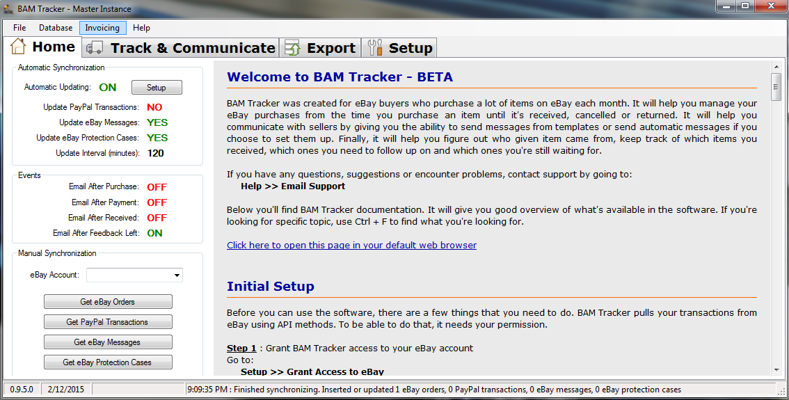 Download BAM Tracker - eBay Software for Buyers - Track Your